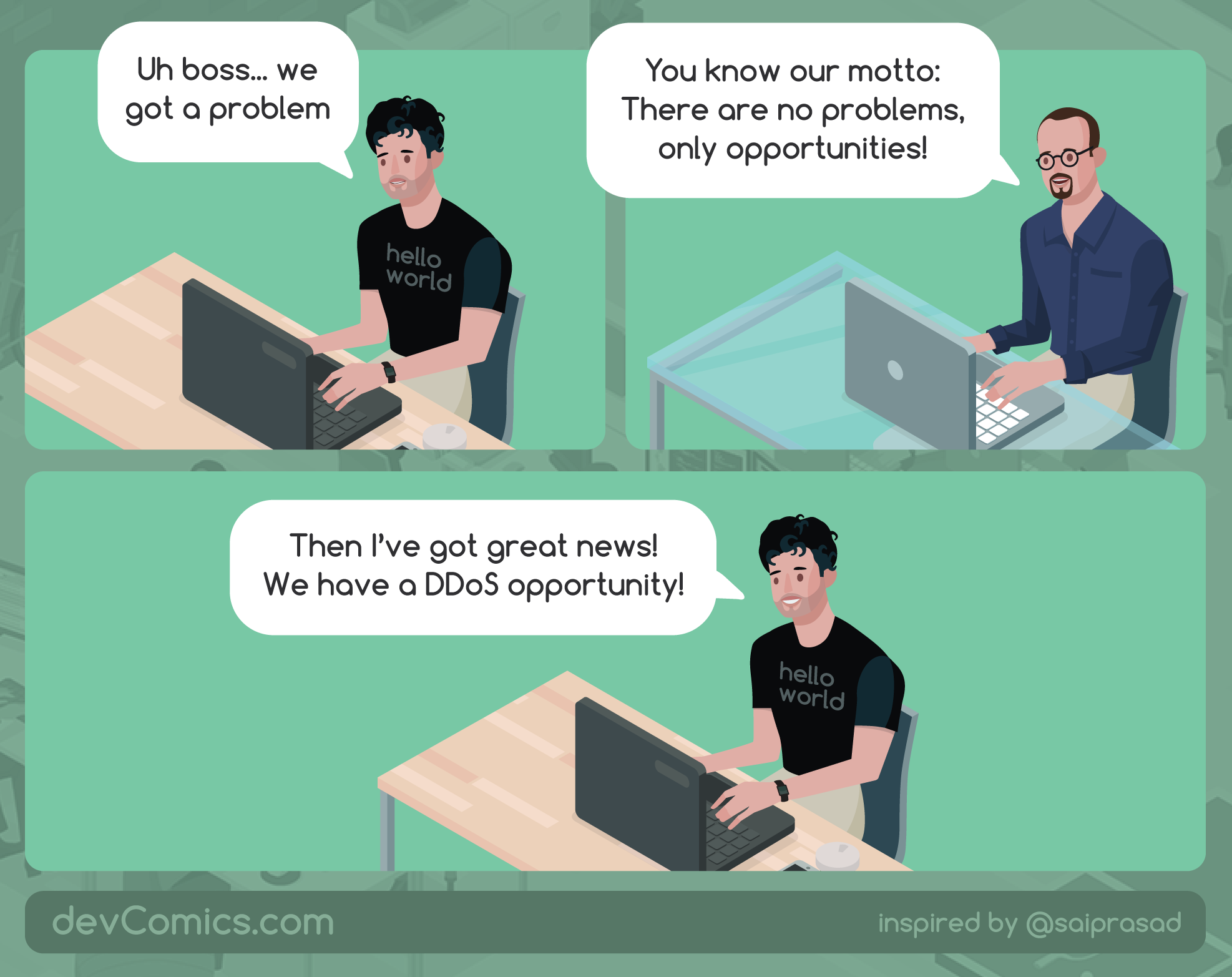 When opportunity knocks - devComic
